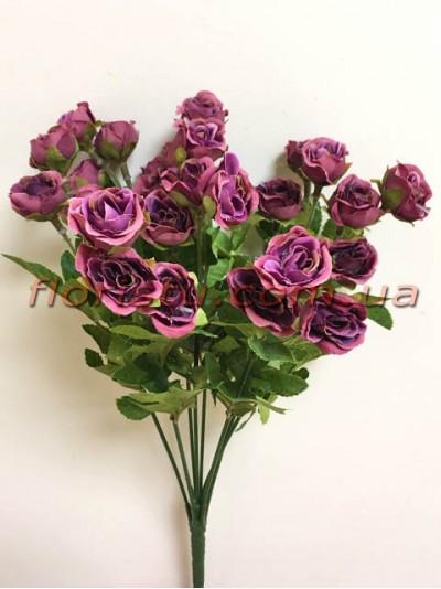 Букет кустовых роз Винтаж Фиолет 35 см гол. 3 см