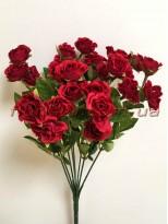 Букет кустовых роз Винтаж Бордо 35 см гол. 3 см
