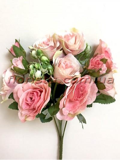Букет роз Прованс нежно-розовый 30 см гол. 4 см