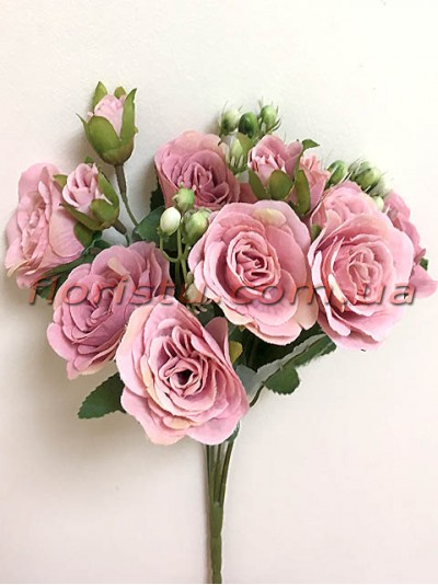 Букет роз Прованс нежно-сиреневый 30 см гол. 4 см