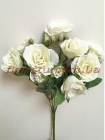 Букет роз Прованс нежно-кремовый 30 см гол. 4 см