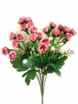 Букет мелких искусственных розочек пепельно-розовых 34 см