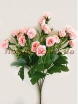 Букет мелких искусственных розочек нежно-розовых 34 см
