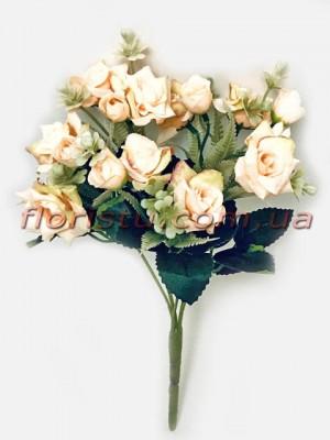Букет роз Катарина нежно-персиковый 30 см