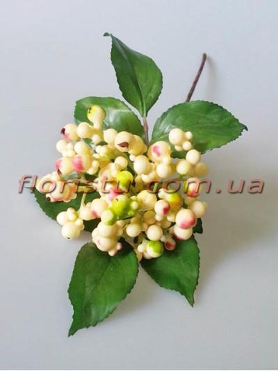 Ветка премиум класса Лесные ягоды кремовые с румянцем