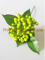Ветка премиум класса Лесные ягоды светло-зеленые
