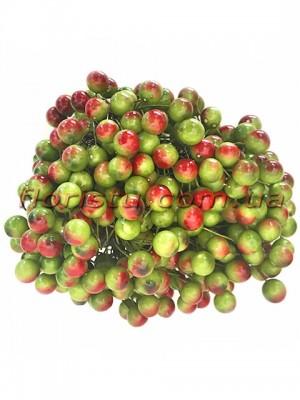 Ягоды калины искусственной Оливковые с румянцем 10 шт.