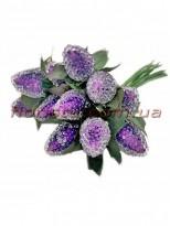 Ягоды малины искусственные Фиолетовые пучок 12 шт.
