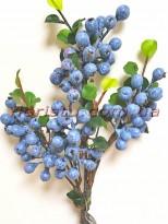 Ветка с ягодами черники голубики 50 см