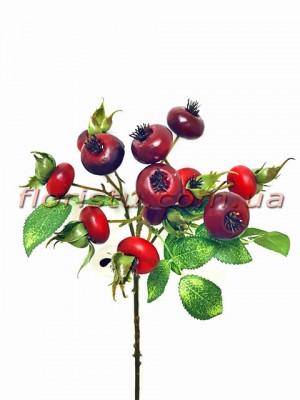 Ветка искусственная с красными ягодами Райские яблочки 46 см