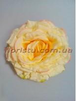 Головка розы крупная премиум класса Кремовая 15 см