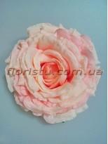 Головка розы крупная премиум класса Нежно-розовая 15 см