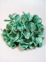 Головка гортензии искусственная премиум Нежно-изумрудная 18 см