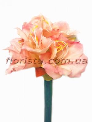 Амарилис латексный премиум класса Нежно-розовый 78 см