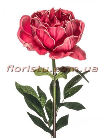 Пион латексный премиум класса Розовый 80 см гол. 14 см