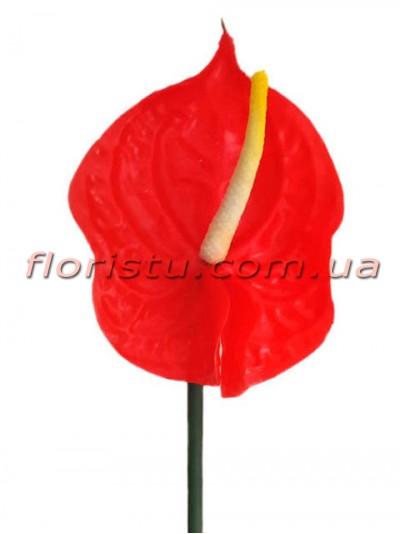 Антуриум премиум класса из латекса Красный 57 см