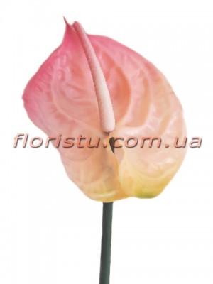 Антуриум премиум класса из латекса Розовый 57 см