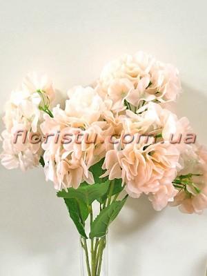 Гортензия латексная премиум класса Нежно-розовая 55 см 5 голов
