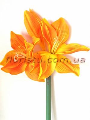 Амарилис латексный премиум класса Оранжевый 92 см