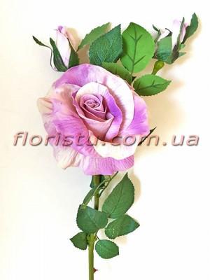 Роза латексная премиум класса Сиреневая 72 см гол. 11 см