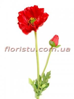 Мак латексный премиум класса Красный 60 см гол. 13 см