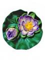 Водяная лилия с бутоном латексная Сиреневая 17 см