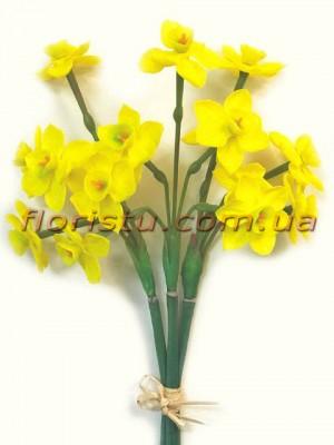 Букет нарциссов из латекса Желтый 49 см