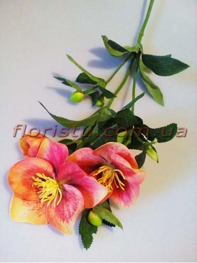 Хелеборус искусственный Оранжево-розовый 65 см
