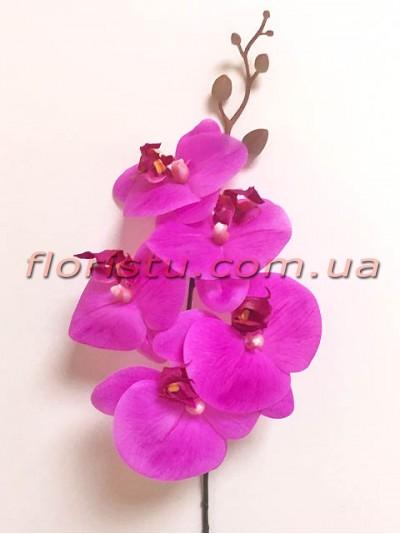 Орхидея фаленопсис латексная премиум класса Сиреневая 5 гол. 84 см