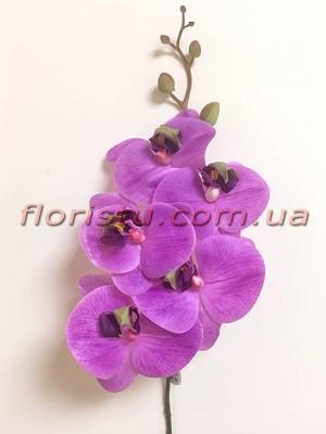 Орхидея фаленопсис латексная премиум класса Фиолет 5 гол. 84 см