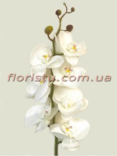Орхидея фаленопсис латексная Белая 7 гол. 90 см