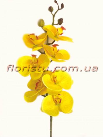 Орхидея фаленопсис латексная Желтая 7 гол. 90 см