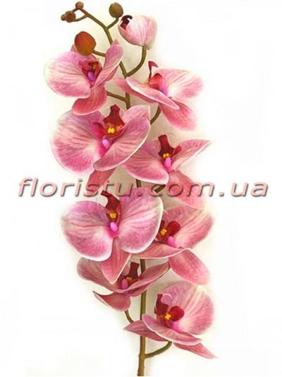 Орхидея фаленопсис латексная Сиренево-розовая 9 гол. 100 см