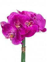 Букет орхидей из латекса премиум класса Фиолетовый 5 веток 30 см