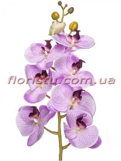 Орхидея фаленопсис латексная Люкс Светло-сиреневая 8 гол. 100 см