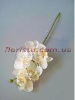 Орхидея фаленопсис мини латексная белая 6 гол. 39 см