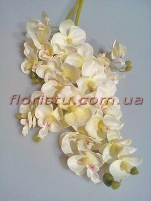 Орхидея фаленопсис искусственная Нежно-кремовая гол. 3-5 см