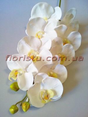 Орхидея фаленопсис латексная Люкс Белая 8 гол. 100 см