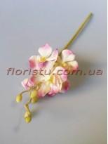 Орхидея искусственная кремово-розовая гол. 5 см 36 см