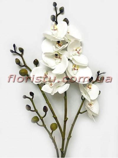 Орхидея фаленопсис латексная Белая 4 ветки 80 см