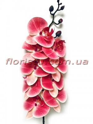 Орхидея фаленопсис латексная премиум класса Малиново-лиловая 9 гол. 90 см