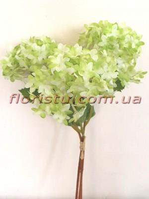 Букет бульдонежа искусственного Нежно-зеленый 35 см