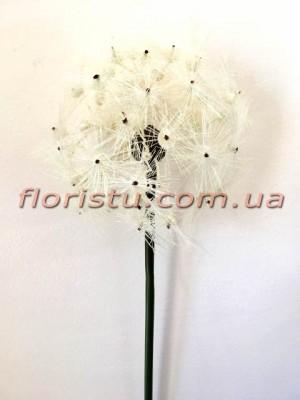 Данделион искусственный премиум класса Белый гол. 19 см 73 см