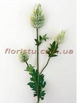 Эрингиум искусственный премиум класса Бело-зеленый 65 см