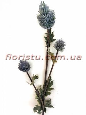 Эрингиум искусственный премиум класса Дымчато-синий 65 см