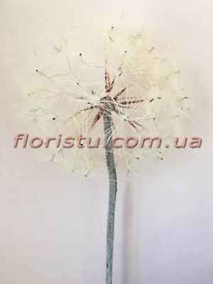 Данделион искусственный премиум класса Белый гол. 20 см 90 см