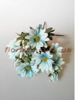 Хризантемы Винтаж пепельно-голубые гол. 5 см