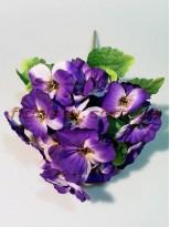 Букет Анютины глазки чернильно-фиолетовые 20 гол. 6 см