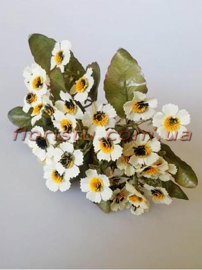 Ромашки Этно белые гол. 2,5 см