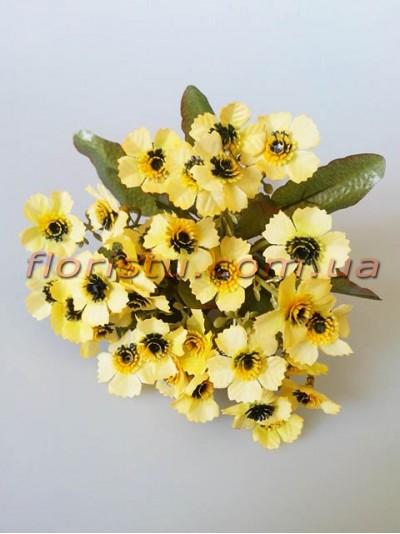 Ромашки Этно желтые гол. 2,5 см